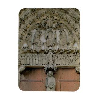 South Portal tympanum depicting Christ Enthroned w Rectangular Photo Magnet