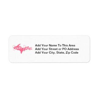 South Range, Michigan Upper Peninsula Return Address Label