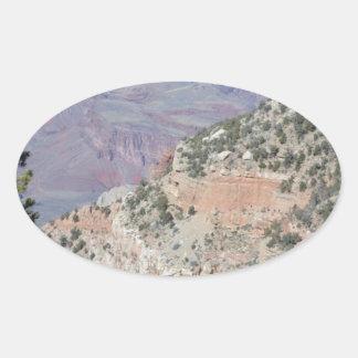 South Rim Grand Canyon Colorado River Oval Sticker