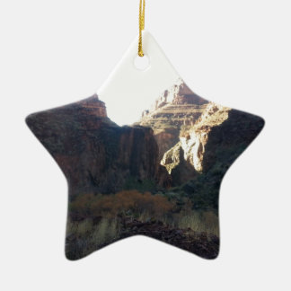 South Rim Grand Canyon National Park Phantom Ranch Double-Sided Star Ceramic Christmas Ornament