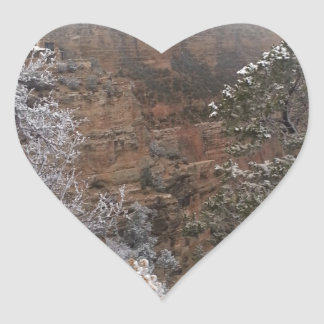 South Rim Grand Canyon National Park Phantom Ranch Heart Sticker