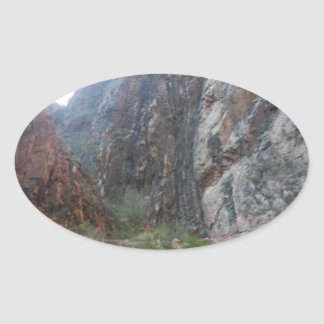 South Rim Grand Canyon National Park Phantom Ranch Oval Sticker