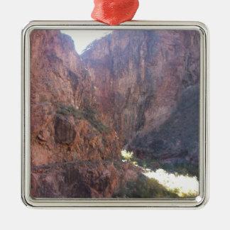 South Rim Grand Canyon National Park Phantom Ranch Square Metal Christmas Ornament