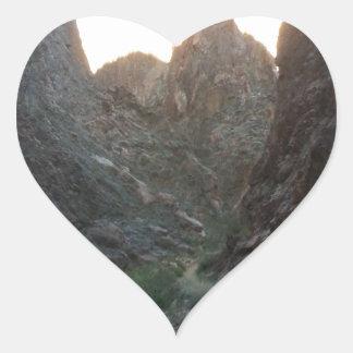 South Rim Grand Canyon National Park Phantom Ranch Heart Sticker
