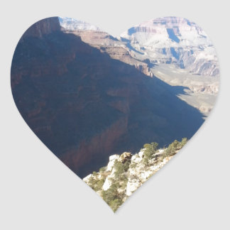 South Rim Grand Canyon Overlook Heart Sticker