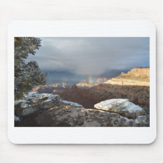 South Rim Grand Canyon Overlook Rainbow Mouse Pad