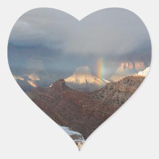 South Rim Grand Canyon Overlook Rainbow Heart Sticker