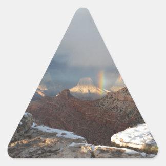 South Rim Grand Canyon Overlook Rainbow Triangle Sticker