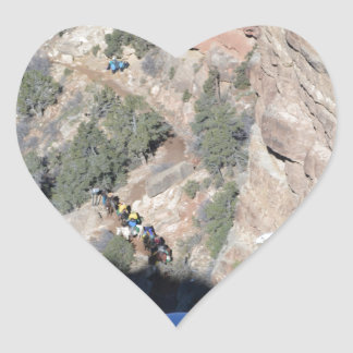 South Rim Grand Canyon Overlook Heart Sticker