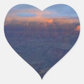 South Rim Grand Canyon Overlook Sunset Heart Sticker