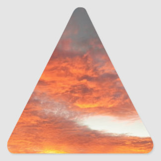 South Rim Grand Canyon Overlook Sunset Triangle Sticker