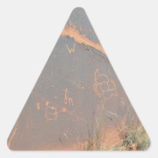 South Rim Grand Canyon Petroglyph Triangle Sticker