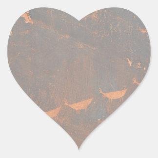 South Rim Grand Canyon Petroglyph Heart Sticker