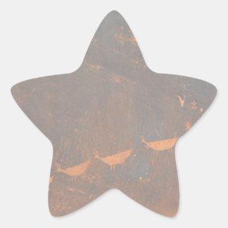 South Rim Grand Canyon Petroglyph Star Sticker