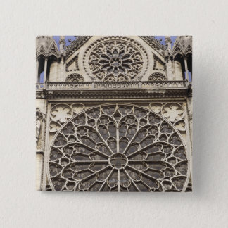 South Rose Window in Notre Dame Cathedral in Pinback Button