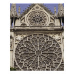 South Rose Window in Notre Dame Cathedral in Poster