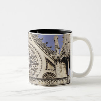 South Rose Window in Notre Dame Cathedral in Two-Tone Coffee Mug