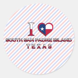 South San Padre Island, Texas Round Sticker