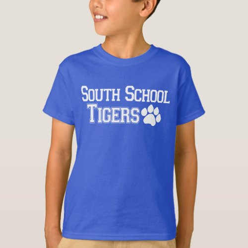 South School Tigers with Paw T_Shirt
