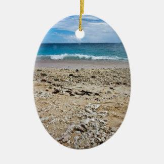 South Sea Island Beach, Fiji Ceramic Ornament