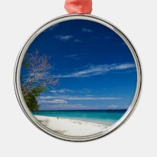 South Sea Island Beach, Fiji Metal Ornament