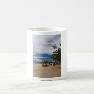 South Sea Island Beach, Fiji Basic White Mug