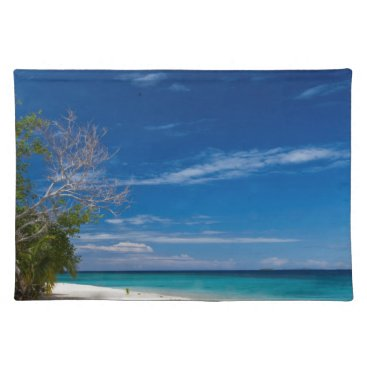 Beach Themed South Sea Island Beach, Fiji Placemat