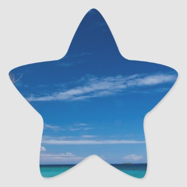 Beach Themed South Sea Island Beach, Fiji Star Sticker