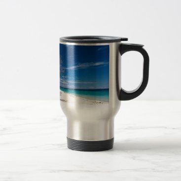 Beach Themed South Sea Island Beach, Fiji Travel Mug
