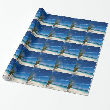Beach Themed South Sea Island Beach, Fiji Wrapping Paper