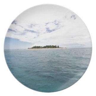 South Sea Island, Fiji Melamine Plate
