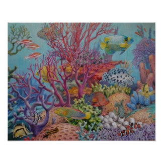 South Sea Reef Poster