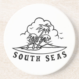 South Sea Tattoo Drink Coaster