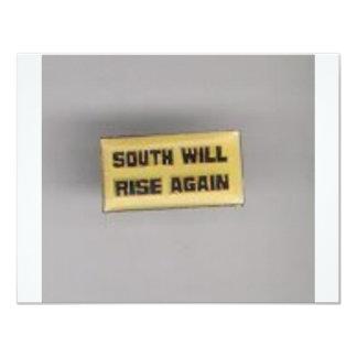 SOUTH SHALL RISE AGAIN 4.25X5.5 PAPER INVITATION CARD