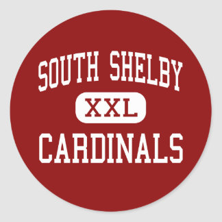 South Shelby - Cardinals - High - Shelbina Classic Round Sticker