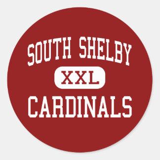 South Shelby - Cardinals - High - Shelbina Classic Round Sticker
