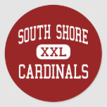 South Shore - Cardinals - High - Port Wing Round Sticker