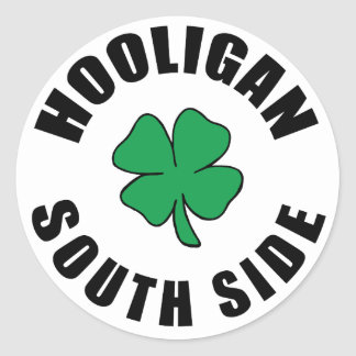 South Side Chicago Hooligan Classic Round Sticker