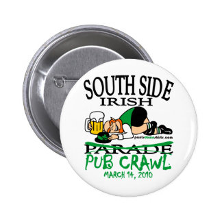 SOUTH SIDE IRISH PUB CRAWL PINBACK BUTTONS