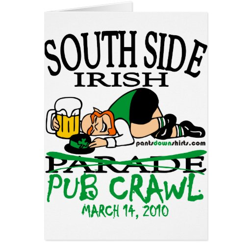 SOUTH SIDE IRISH PUB CRAWL CARD