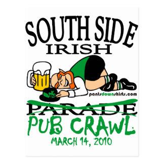 SOUTH SIDE IRISH PUB CRAWL POST CARD