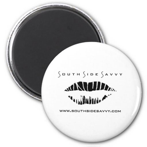South Side Savvy Logo Merchandise 2 Inch Round Magnet
