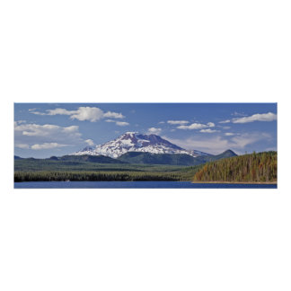 South Sister Elk Lake Oregon Poster