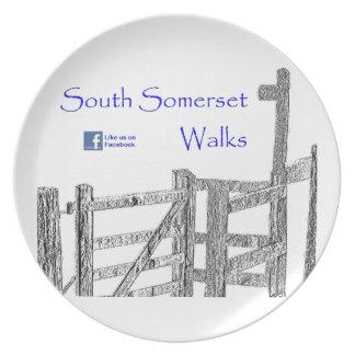 South Somerset Walks Dinner Plate