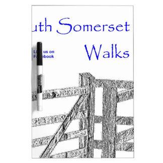 South Somerset Walks Dry Erase White Board
