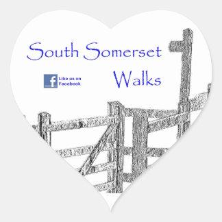 South Somerset Walks Heart Sticker