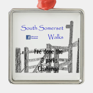 South Somerset Walks Silver-Colored Square Decoration