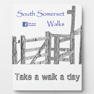 South Somerset Walks Plaque