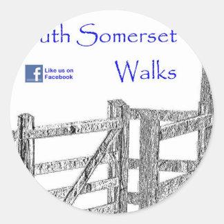 South Somerset Walks Round Sticker