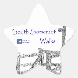 South Somerset Walks Star Sticker